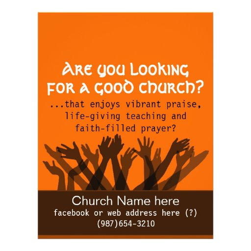 Invitation to Church.Worship.Bible.Healing.Prayer Flyer