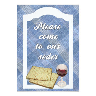 "Invitation to Passover Seder 5"" X 7"" Invitation Card"