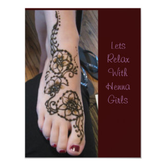 Invitation to relax henna time