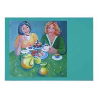 """Invitation to tea and cake 5"""" x 7"""" invitation card"""