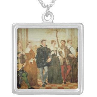 Invitation to the Dance, 1570 Square Pendant Necklace