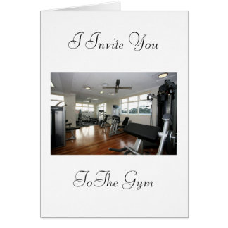 Invitation to the gym