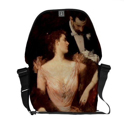 Invitation to the Waltz, 1895 (oil on canvas) Courier Bag