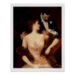 Invitation to the Waltz, 1895 (oil on canvas) Poster