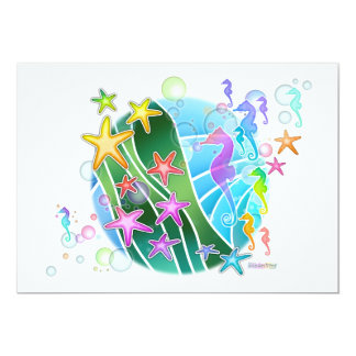 Invitation -  Under The Sea Pop Art