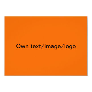 Invitation uni orange & dark blue
