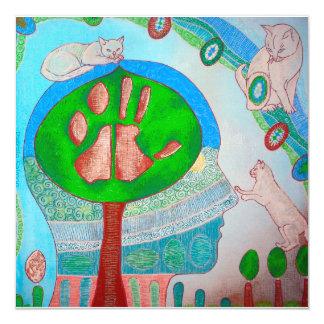 Invitation vegan cat tree