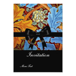 "Invitation Vintage Retro Victorian William Morris 5"" X 7"" Invitation Card"