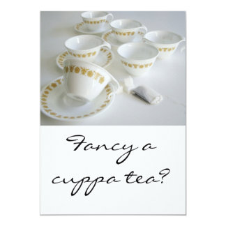 "Invitation - Vintage Tea Party 5"" x 7"""