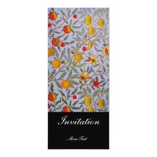 "Invitation Vintage Victorian William Morris Floral 4"" X 9.25"" Invitation Card"