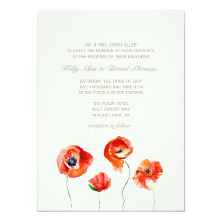 Invitation | Watercolor Flowers -large