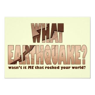 Invitation - What Earthquake?