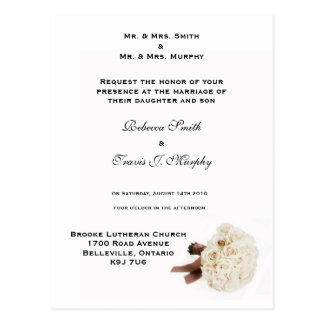 Invitation - White Bouque Postcard