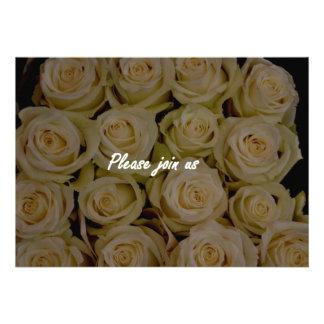Invitation White Rose Please Join Us