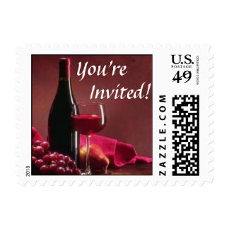 Invitation Wine and Cheese Postage
