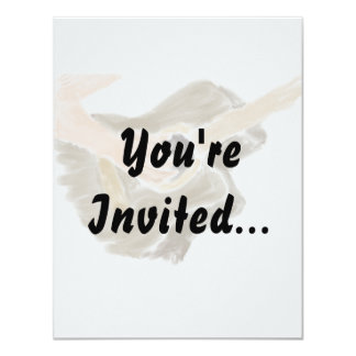 "Invitation with acoustic guitar music design 4.25"" x 5.5"" invitation card"