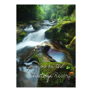 Invitation with beautiful Chattooga River