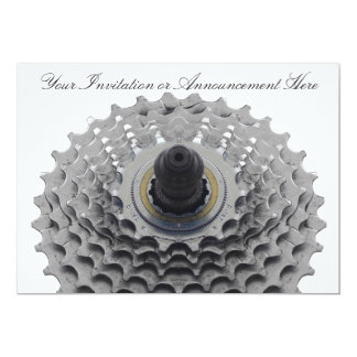 Invitation with Bike Sprocket