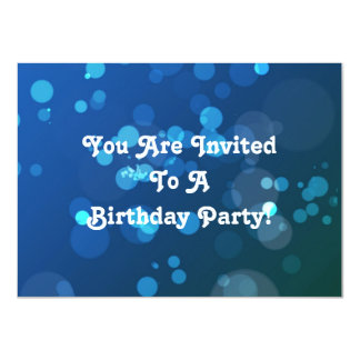 Invitation with Blue Bubble Background and Text