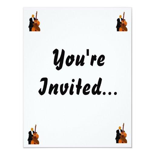 Invitation with corner designs