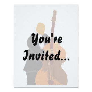 "Invitation with wash out background music design 4.25"" x 5.5"" invitation card"