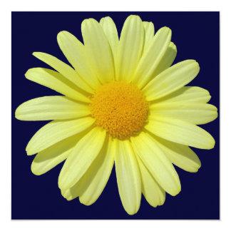 Invitation - Yellow Daisy on Midnight Sky