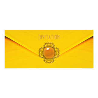 Invitation Yellow Gold Jewel Personalized Announcement
