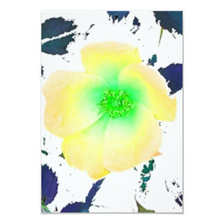 Invitation Yellow Green Rose