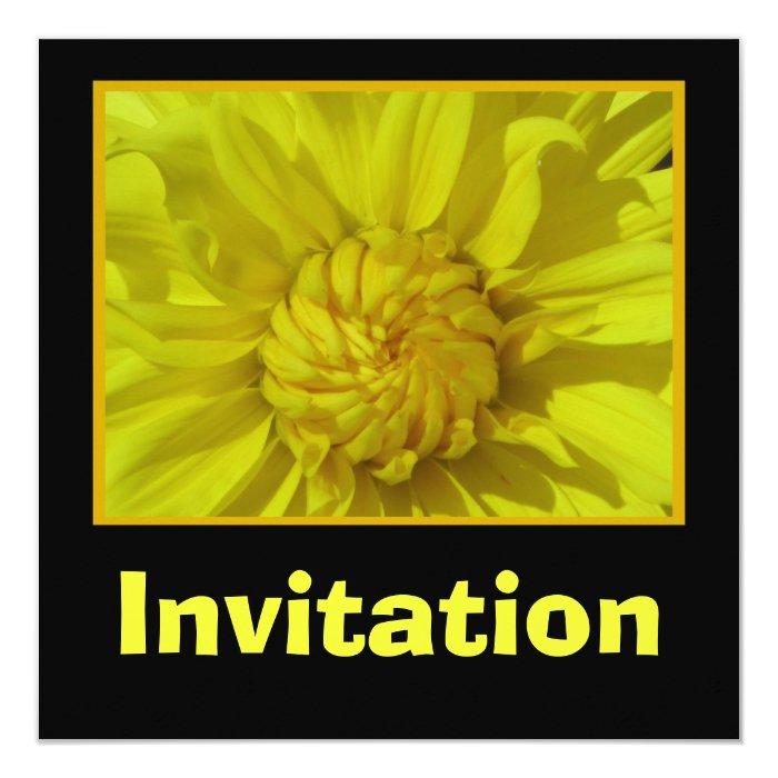 Invitation - Yellow Mum Flower