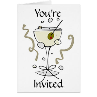 Invitation - You're Invited Featuring Cocktail Greeting Card