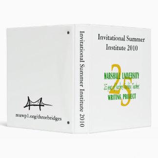Invitational Summer Institute 2010 3 Ring Binder