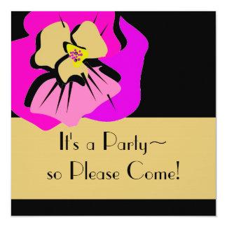 invitationn_PINK PANSY/STRIPES Card