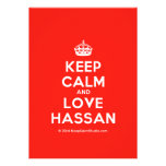 [Crown] keep calm and love hassan  Invitations