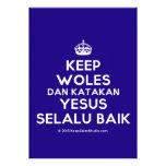 [Crown] keep woles dan katakan yesus selalu baik  Invitations