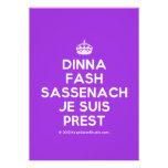 [Crown] dinna fash sassenach je suis prest  Invitations