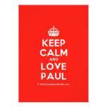 [Crown] keep calm and love paul  Invitations