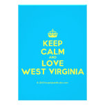 [Crown] keep calm and love west virginia  Invitations