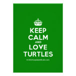 [Crown] keep calm and love turtles  Invitations