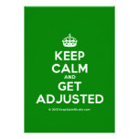 [Crown] keep calm and get adjusted  Invitations