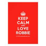 [Crown] keep calm and love robbie  Invitations