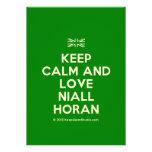 [UK Flag] keep calm and love niall horan  Invitations
