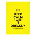 [UK Flag] keep calm i'll do it dreckly  Invitations