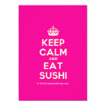 [Crown] keep calm and eat sushi  Invitations