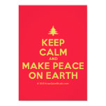 [Xmas tree] keep calm and make peace on earth  Invitations
