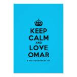 [Crown] keep calm and love omar  Invitations