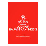 [Crown] jat' bishnoi chadi jodhpur rajasthan-342312  Invitations