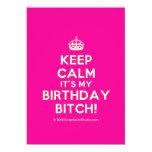 [Crown] keep calm it's my birthday bitch!  Invitations