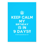 [Cupcake] keep calm my birthday is in 9 days!!  Invitations