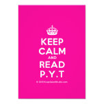 [Crown] keep calm and read p.y.t  Invitations
