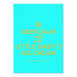 [Cupcake] keepcalm and eat little baby's ice cream  Invitations